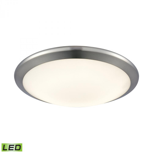 Ceiling Lights By Alico Clancy Round LED Flushmount In Chrome And Opal Glass - Small FML4525-10-15