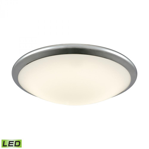 Ceiling Lights By Alico Clancy Round LED Flushmount In Chrome And Opal Glass - Large FML4550-10-15