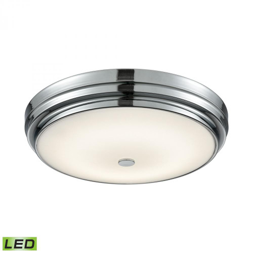 Ceiling Lights By Alico Garvey Round LED Flushmount In Chrome And Opal Glass - Large FML4750-10-15