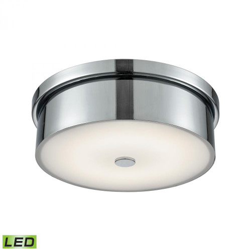 Ceiling Lights By Alico Towne Round LED Flushmount In Chrome And Opal Glass - Small FML4925-10-15