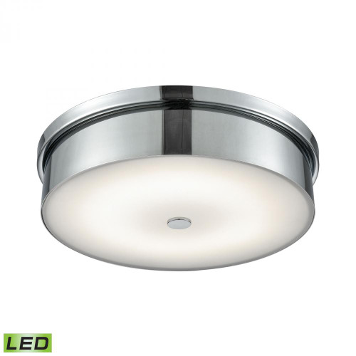 Ceiling Lights By Alico Towne Round LED Flushmount In Chrome And Opal Glass - Large FML4950-10-15