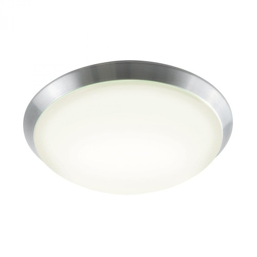 Ceiling Lights By Alico Luna Flushmount In Brushed Aluminum And White Polycarbonate FML501-10-98