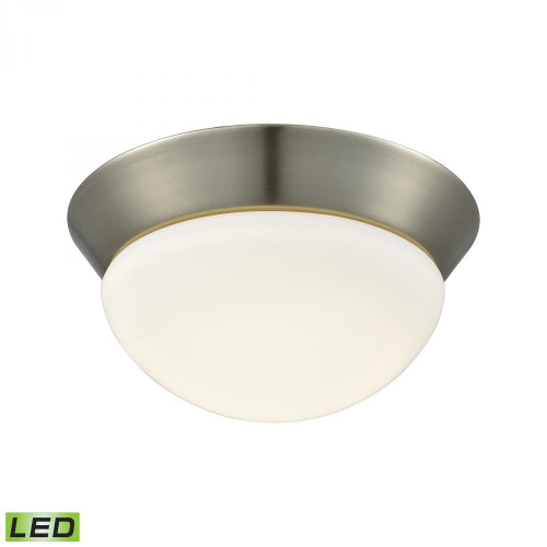 Ceiling Lights By Alico Contours 1 Light LED Flushmount In Satin Nickel And Opal Glass - Small FML7125-10-16M