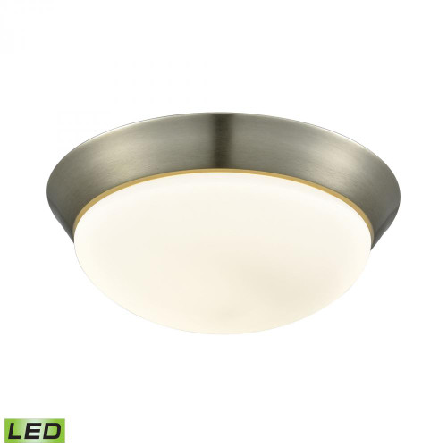 Ceiling Lights By Alico Contours 1 Light LED Flushmount In Satin Nickel And Opal Glass - Large FML7175-10-16M