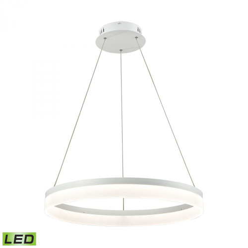 Chandeliers/Pendant Lights By Alico Cycloid 1 Light LED Pendant In Matte White With Acrylic Diffuser - Medium LC2301-N-30