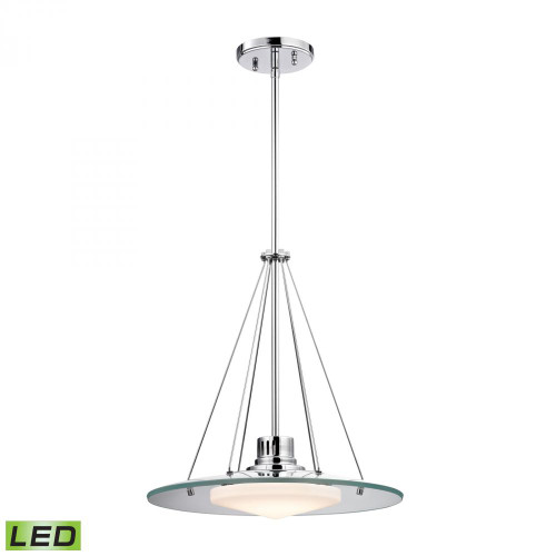 Chandeliers/Pendant Lights By Alico Tribune 1 Light LED Pendant In Chrome And Opal Glass LC414-PW-80