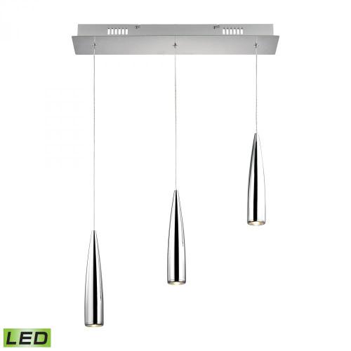 Chandeliers/Linear Suspension By Alico Century 3 Light LED Pendant In Chrome LC703-15-15
