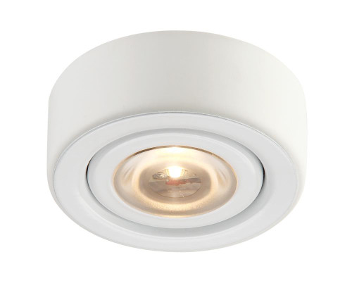 Wall Lights By Alico Eco 1 Lamp LED Puk Light In White With Clear Glass MLE-101-30