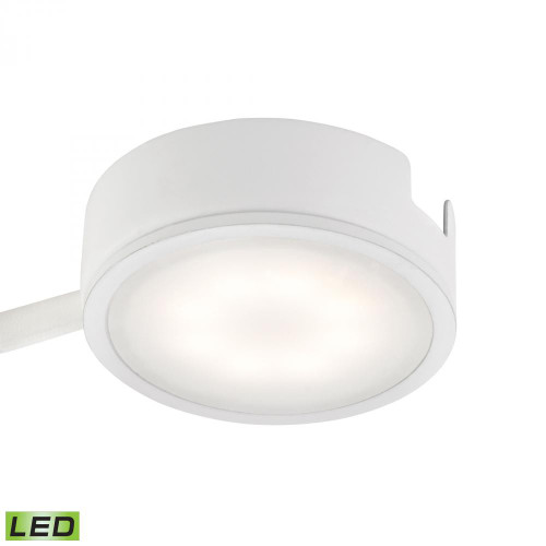 Wall Lights By Alico Tuxedo 1 Light LED Undercabinet Light In White With Power Cord And Plug MLE301-5-30