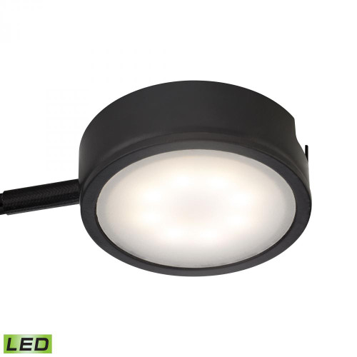 Wall Lights By Alico Tuxedo 1 Light LED Undercabinet Light In Black With Power Cord And Plug MLE301-5-31