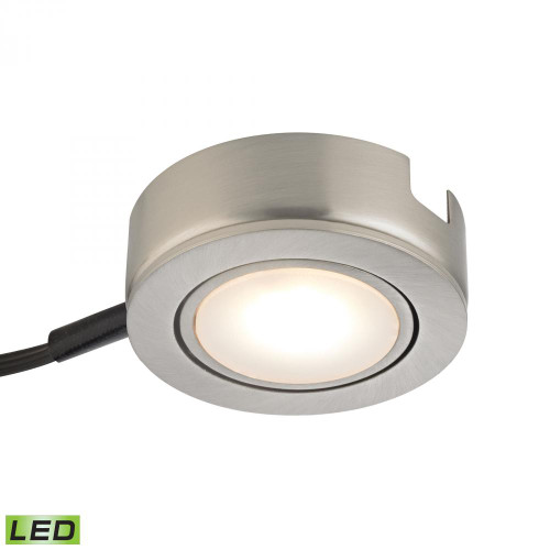 Wall Lights By Alico Tuxedo Swivel 1 Light LED Undercabinet Light In Satin Nickel With Power Cord And Plug MLE423-5-16MK