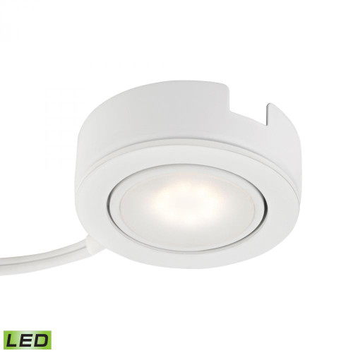 Wall Lights By Alico Tuxedo Swivel 1 Light LED Undercabinet Light In White With Power Cord And Plug MLE423-5-30K