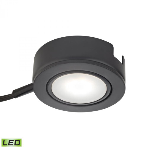 Wall Lights By Alico Tuxedo Swivel 1 Light LED Undercabinet Light In Black With Power Cord And Plug MLE423-5-31K