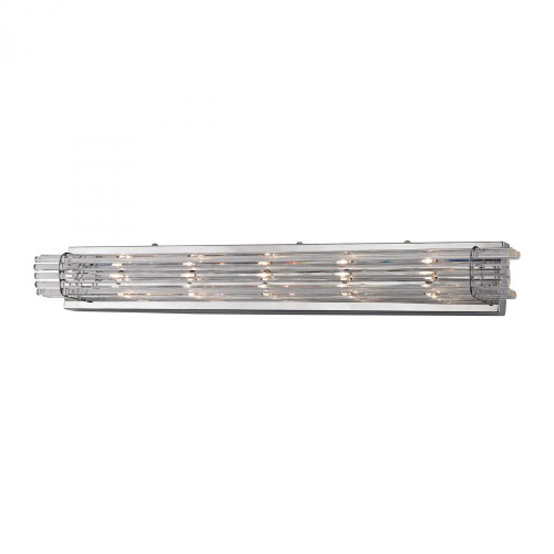 Wall Lights By Alico Quebec 5 Light Crystal Vanity In Chrome WS705-0-15