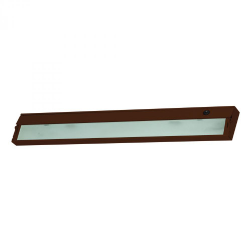 Wall Lights By Alico Zeeline 4 Lamp Xenon Cabinet Light In Bronze With Diffused Glass ZL335RSF