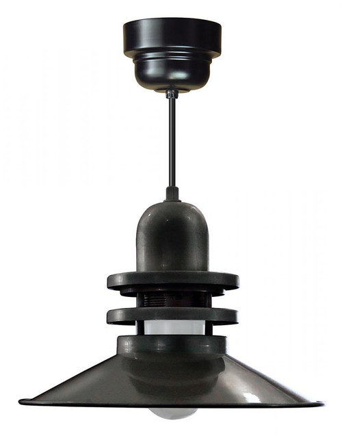 """Chandeliers/Pendant Lights By American Nail Plate 16"""" Orbitor Shade in Black including frosted glass on an 8' Black cord with driver housing ORB16-FR-M016LDNW40K-RTC-BLC-41"""