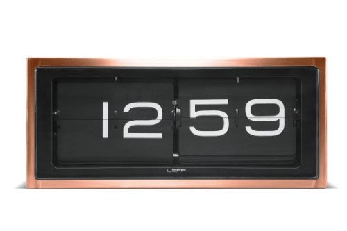 Home Decor By Leff Amsterdam wall or desk clock brick copper 24h black