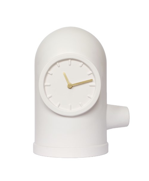 Home Decor By Leff Amsterdam table clock base white with brass