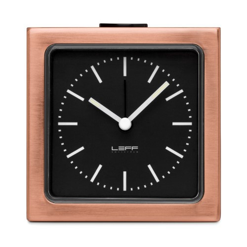 Home Decor By Leff Amsterdam alarm clock block copper black index