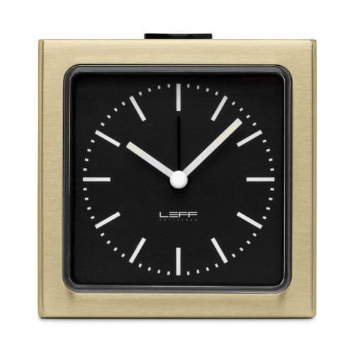 Home Decor By Leff Amsterdam alarm clock block brass black index