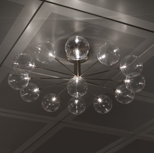 Ceiling Lights By Harco Loor Cluster Wheel Semi-Flushmount Ceiling Light 13 LED