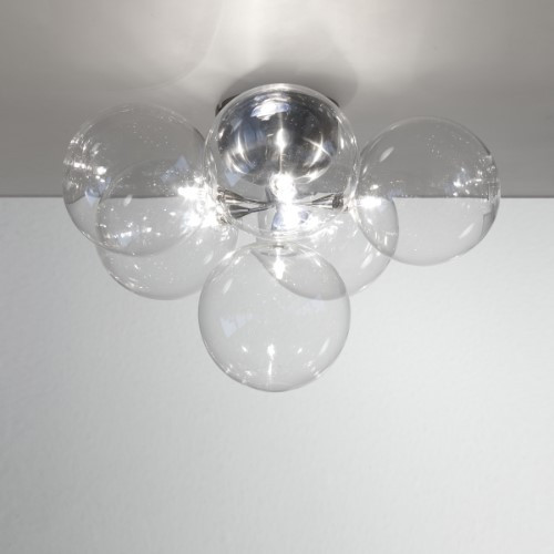 Wall Lights By Harco Loor Cluster Wall Sconce/Semi-Flushmount Ceiling Light 6 LED