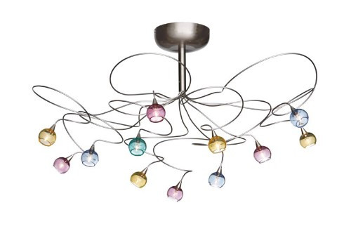 Ceiling Lights By Harco Loor Colorball Semi-Flushmount Ceiling Light 12 LED