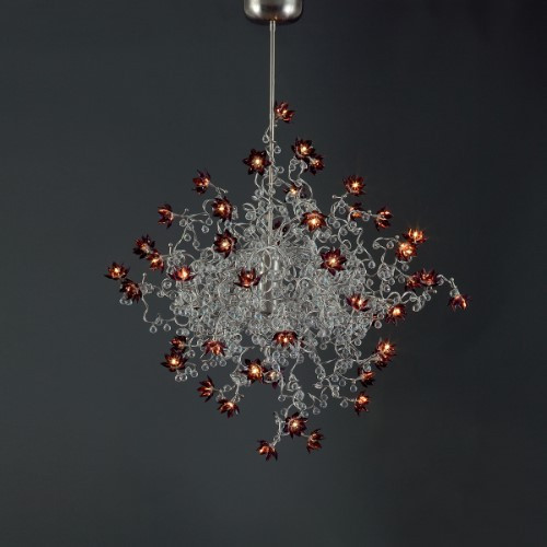 Chandeliers By Harco Loor Jewel Diamond Double Chandelier 30 LED
