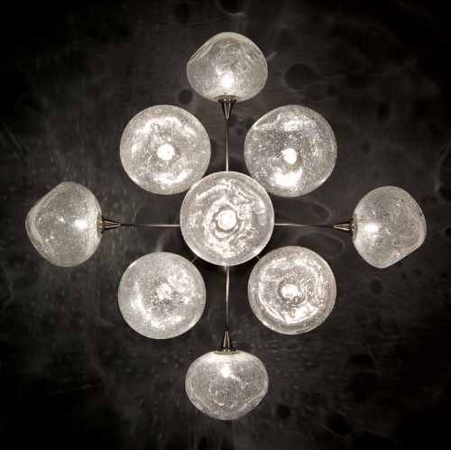 Ceiling Lights By Harco Loor Meteor Large Semi-Flushmount Ceiling Light 9 LED