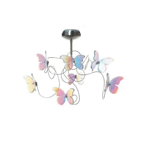 Ceiling Lights By Harco Loor Papillon IRI Semi-Flushmount Ceiling Light 7 LED