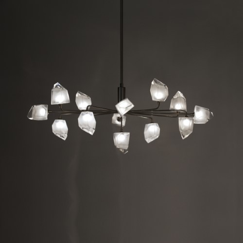 Chandeliers/Linear Suspension By Harco Loor Rock Large Chandelier 13 LED