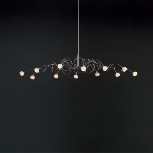 Chandeliers By Harco Loor Snowball Oval Chandelier 12 LED