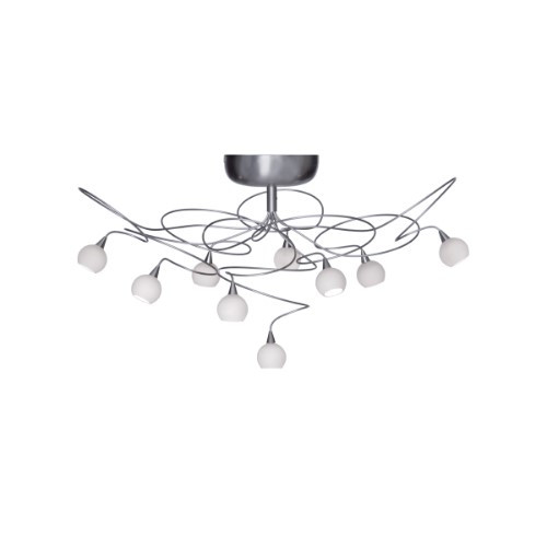 Ceiling Lights By Harco Loor Snowball Semi-Flushmount Ceiling Light 9