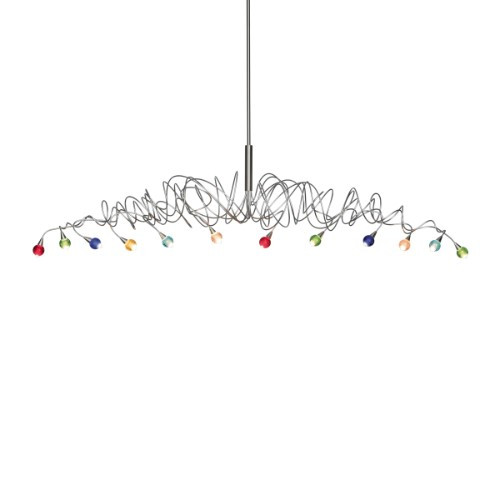 Chandeliers/Linear Suspension By Harco Loor Sweet Long Chandelier 12