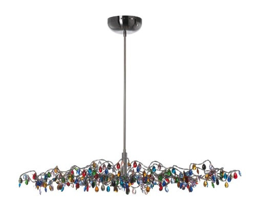 Chandeliers By Harco Loor Tiara Multicolor Oval Chandelier 15 LED