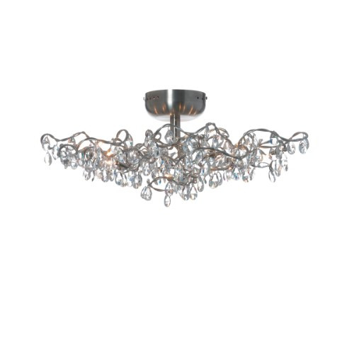Wall Lights By Harco Loor Tiara Transparent Flushmount Ceiling/Wall Light 12 LED