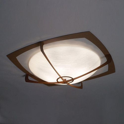 Ceiling Lights By Ultralights Synergy Modern LED Retrofit 39 Inch Flushmount Bowl 490-39