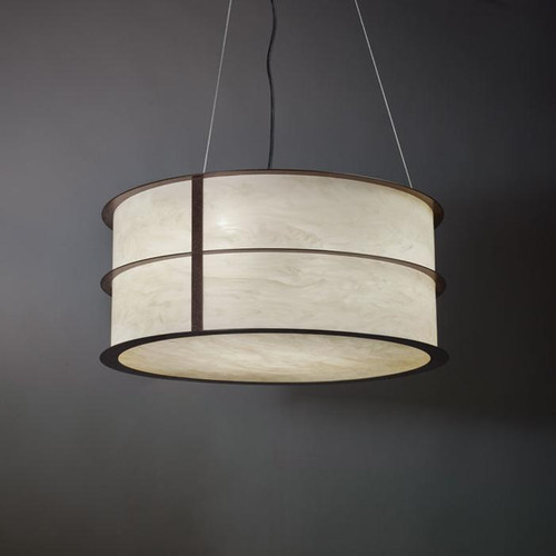 Chandeliers/Pendant Lights By Ultralights Ellipse Modern LED Drum Shade Pendant Light 9176