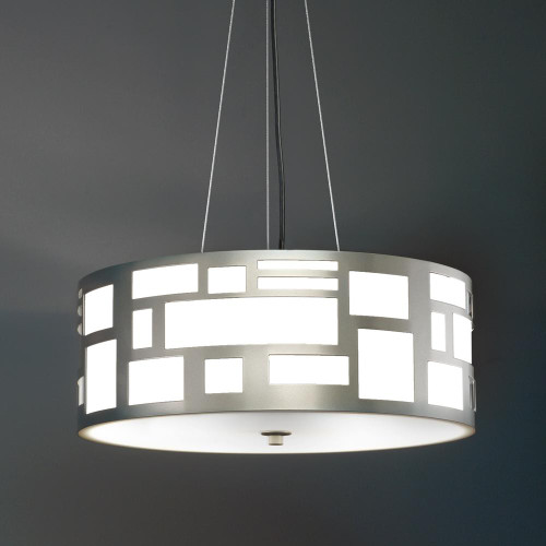 Chandeliers/Pendant Lights By Ultralights Genesis Modern LED Retrofit 16 Inch Pendant Light Drum Shade 11211-16