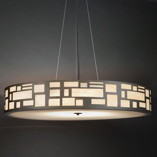 Chandeliers/Pendant Lights By Ultralights Genesis Modern LED 36 Inch Pendant Light Drum Shade 11211-36