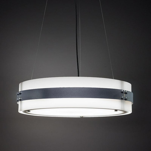 Chandeliers/Pendant Lights By Ultralights Invicta Modern LED Drum Shade 30 Watt Pendant 16355-24