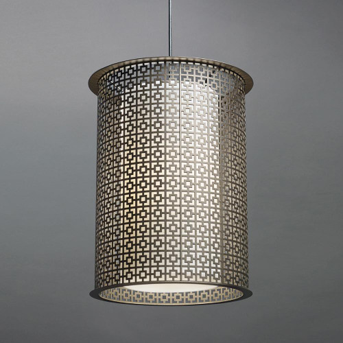 Chandeliers/Pendant Lights By Ultralights Clarus Modern LED Retrofit Drum Shade Pendant Light 14302-A1