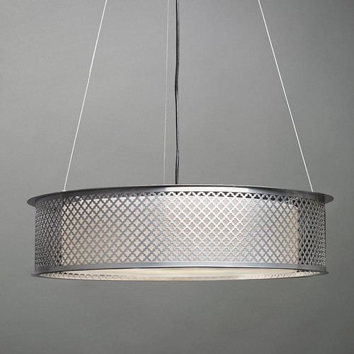 Chandeliers/Pendant Lights By Ultralights Clarus Modern Incandescent Drum Shade Pendant Light 14308-CL