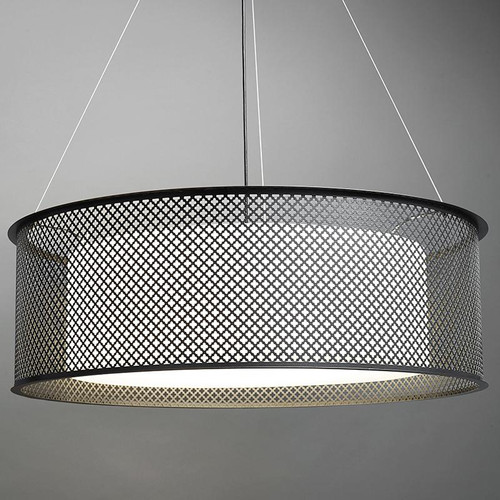 Chandeliers/Pendant Lights By Ultralights Clarus Modern LED Retrofit Drum Shade Pendant Light 14310-CL
