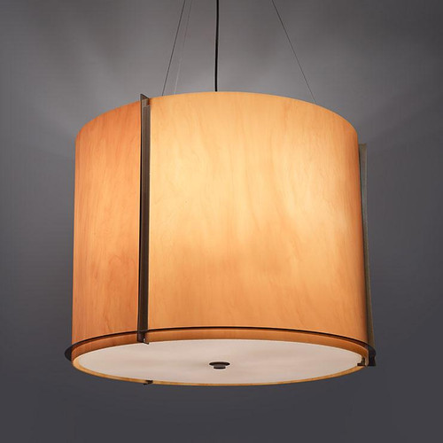 Chandeliers/Pendant Lights By Ultralights Genesis Modern LED Drum Shade Pendant Light 15338