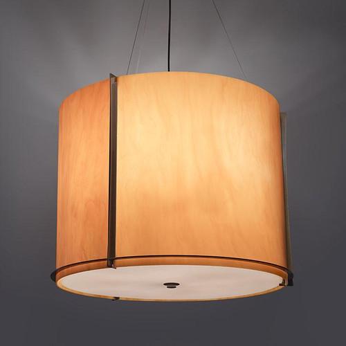 Chandeliers/Pendant Lights By Ultralights Genesis Modern LED Drum Shade Pendant Light 15338