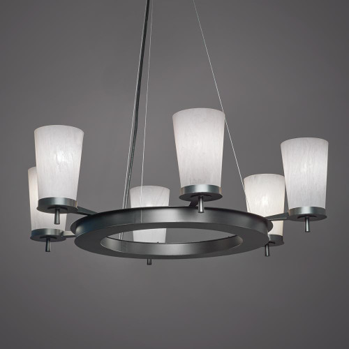 Chandeliers By Ultralights Radius Modern LED Retrofit Up Light Chandelier 15344