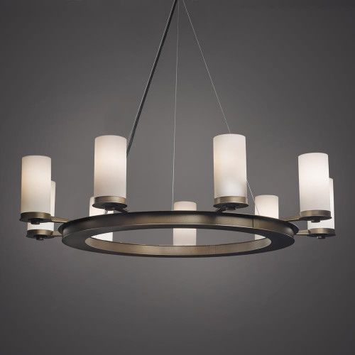 Chandeliers By Ultralights Radius Modern Incandescent Up Light Chandelier 15348