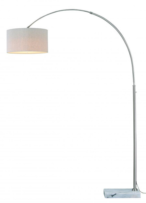 Luna Satin Nickel Floor Lamp-L0002 by Vaxcel