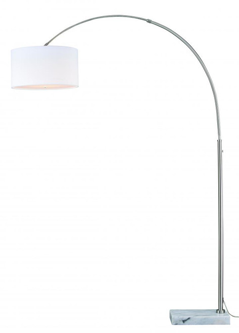 Luna Satin Nickel Floor Lamp-L0001 by Vaxcel